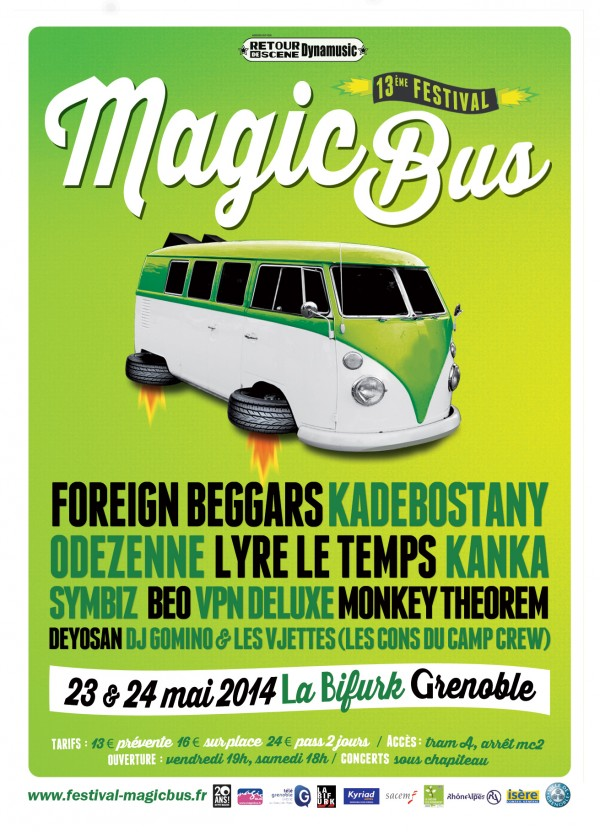 FESTIVAL MAGIC BUS – 23 et 24 mai 2014