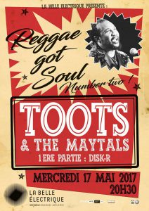 Toots and The Maytals - Concert labellisé par Bmol - Mai 2017